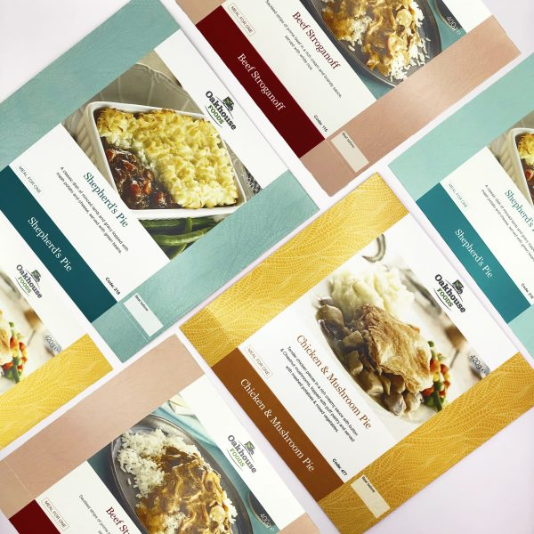 Oakhouse foods packaging